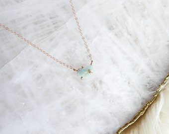 Raw Opal Pendant Necklace
