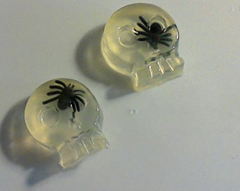 Spider soaps    Skull soaps with a Spider in the Brain & Spider Web soap 1 Halloween Party Favors