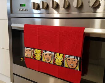 Superhero Tea Towel - cleaning for justice!