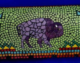 Buffalo mosaic mailbox