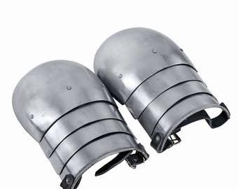 Simple Pauldrons SCA LARP sca pauldrons larp pauldrons steel pauldrons medieval pauldrons fantasy pauldrons sca armor steel armor medieval