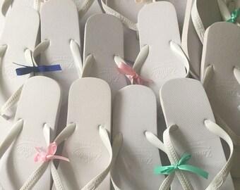 10  pairs Wedding Party Guest Dancing Flip Flops