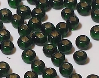 Evergreen Colored Size 12 Vintage Seed Beads