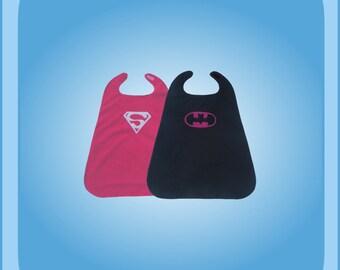 Baby Superwoman Batwoman Reversible Superhero Cape Costume