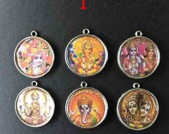 Indian amulet, support metal money, 2, 5 cm in diameter