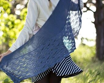 Archipelago - pattern lace shawl knitting wool feminine merino yarn