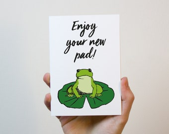 Enjoy Your New Pad Card | New Home Card | First Home Card | Moving Out Card | Moving Card | Housewarming Gift | Housewarming Card