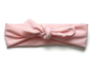 Top knot headband, pink headband, top knot, pink baby headband, knot headband, headband, baby headband, baby head wrap, soft pink headband