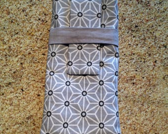 Gray and white glasses case