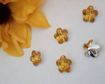 Yellow Gold Silver jewelry set of 5 button
