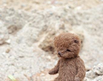 Free shipping Miniature artist teddy bear Dollhouses bear