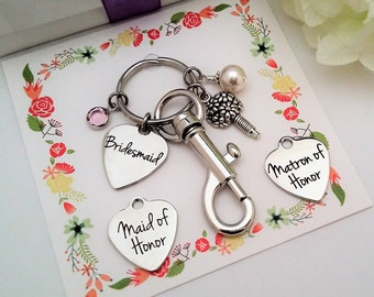 MAID OF HONOR Gift Maid of Honor Key chain Will you be My Maid of Honor Proposal Personalized Gift Maid of Honor Matron of Honor Purse charm