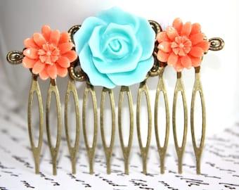 Flower Hair Comb, Bridal Accessories, Hair Accessories