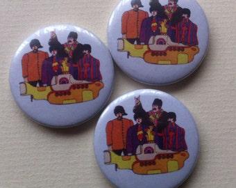 "Beatles ""Yellow Submarine"" Pinback Button"