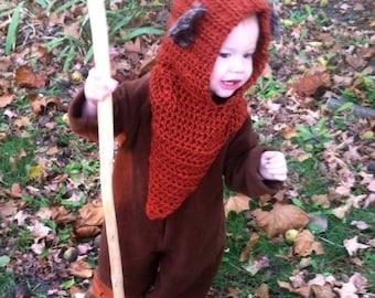 Ewok Hat, Star Wars, Crochet Ewok, Halloween Costume, Cosplay