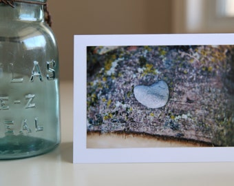 Heart Rock Photo Art Card