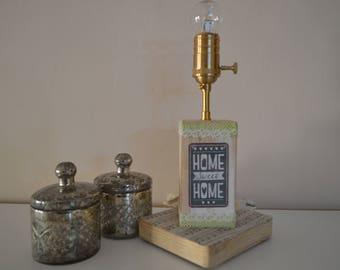 Lamp vintage craftsmanship in wood