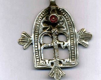 """Morocco – Talisman – Amulet  """"Gate of Paradis"""" old Silver Pendant for necklace"""