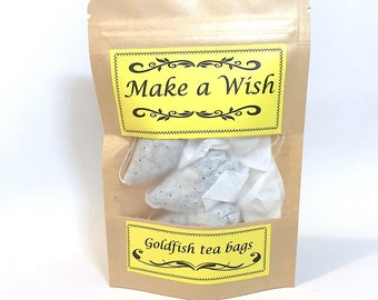Organic Green Tea Mint tea Ginger tea Handmade 3 Goldfish Tea bags Make a Wish Gifts for Her Gift For Him tea lover gifts, tea gift