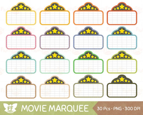 movie marquee clipart theatre film show sign colorful rainbow cute rh etsystudio com movie theater marquee clipart Movie Theater Clip Art