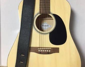 Guitar strap - Black Cowhide
