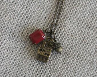 Bronze Cottage Charm Necklace