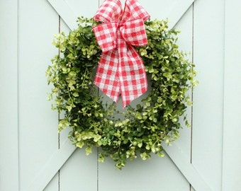 Boxwood Wreath ~ Farmhouse Decor ~ Modern Farmhouse ~ Gift for Her ~ Gift for Mom ~ Housewarming Gift ~ Wreath ~ Front Door Wreath