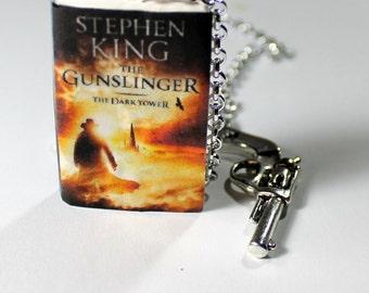 Bookmark The dark tower Stephen King - The Gunslinger book cover miniature original fandom gift idea, handmade little book