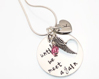 Child Loss Keepsake Necklace | Until We Meet Again | Baby Loss Necklace | Personalized Remembrance Jewelry | Hand Stamped Sympathy Jewelry
