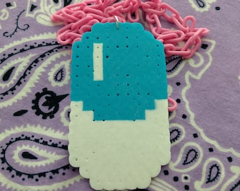 Large Pixel Pill Perler Necklace - Limited Stock!