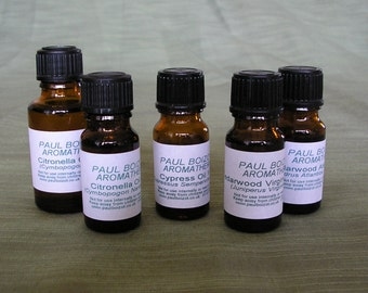 Essential Oils - Cedarwood, Citronella, Clary Sage, Cypress