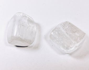 Set of two Selenite nuggets - Flat and can be used for setting