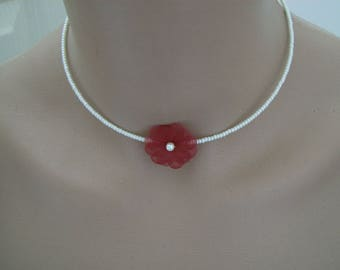 Original girl bridesmaid Communion ceremony necklace ivory/Burgundy Red p pearls bridal/wedding/evening dress not cheap