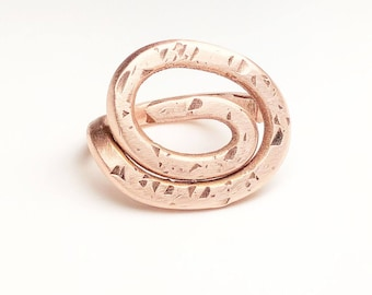 Unisex Hand Wrought Copper Ring