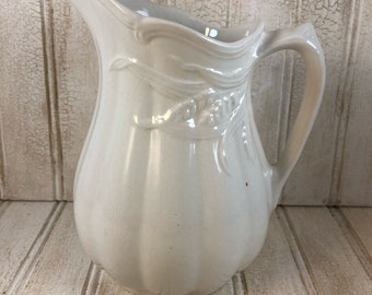 Vintage Weatherby Falconware Wheat Pattern Ironstone Milk Pitcher
