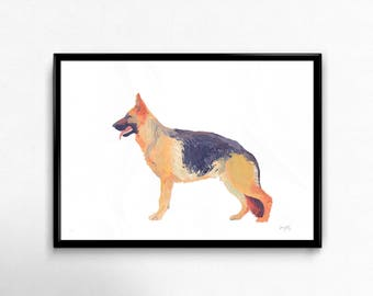 Giclée Limited Edition German Shepherd Print made from original Oil Painting