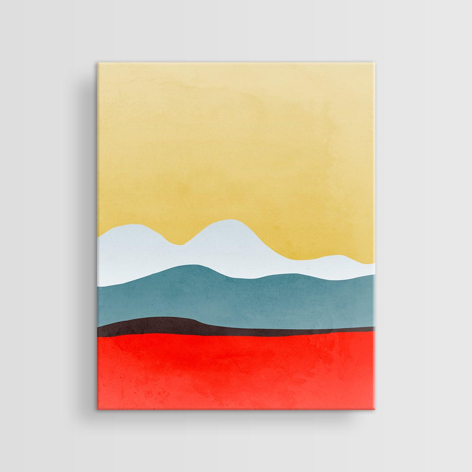 Abstract Art Canvas Mid Century Modern Art Canvas Wall Art