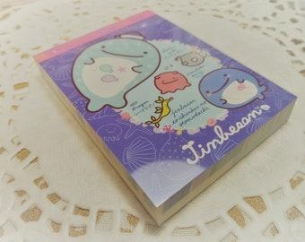 100 Pc. Jinbesan Mini Memo Pad Stationery Homework School Supplies, Paper Supplies, Crafts, Snail mail, Notes, Scrapbooking, Packing Slips.