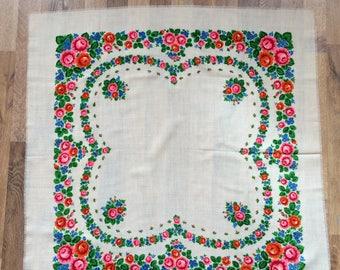Russian wool scarf , babushka wool scarf. russian shawl. Vintage Wool Shawl.Russian Scarf .floral Shawl. Russian Floral Shawl