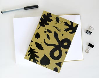 Forest Floor Journal / Witchy Notebook / Nature Journal / Hand Bound Coptic Book