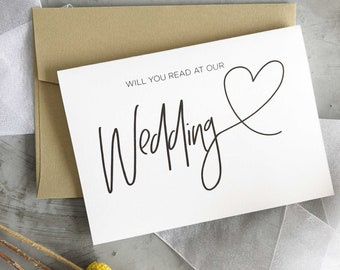 Wedding party gift etsy will you read at our wedding card wedding reader gift wedding party gift bridal party gifts wedding cards wedding reading card heart junglespirit Gallery