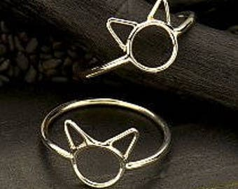 20% OFF SALE! Silver Kitty Cat Ring. 925 Silver. Item 326