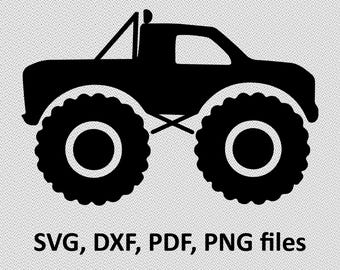 Truck SVG, Monster Truck svg, Boy truck svg, Truck DXF, Monster truck Cut File, Monster truck PNG, Cricut, & Silhouette, Instant download
