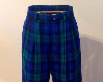 Talbots Vintage Plaid Walking Shorts