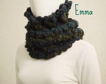 Chunky Cowl Pattern | Knitting PATTERN Cowl Over-The-Head Snood Neck Warmer Chunky Merino Thick and Thin Handspun Yarn