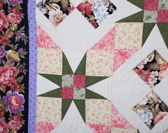 Floral Quilted Wall Hanging