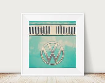 VW bus photograph Volkswagen bus print travel photography VW bus art nursery wall art mint green decor teal home decor