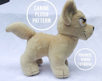 Ccorgi's Canine Plushie pattern and VIDEO tutorial - For any skill level - Learn to Sew!