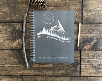 Wedding Photo Book. Custom Photo Scrapbook. Hipster Modern Mountain Wedding Book. Photo booth Wedding Book.