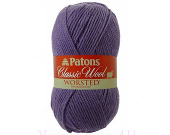 WISTERIA Patons Classic Wool. A Felting Medium 4 Worsted Weight, Pure New Wool. A dusty medium purple yarn that felts well. 3.5oz 100g √